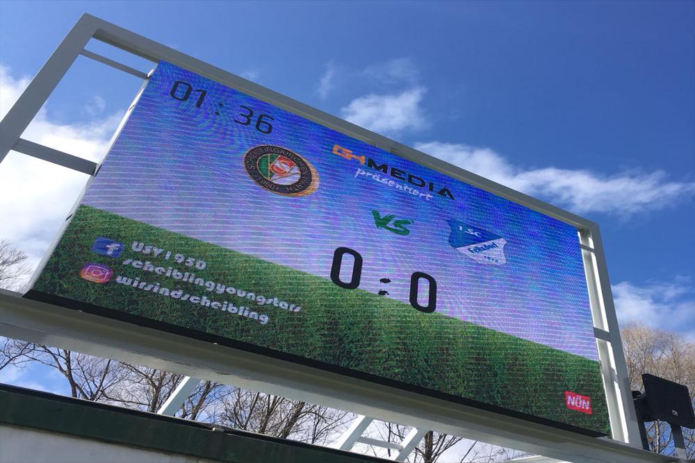guppyi scoreboard auf videowall