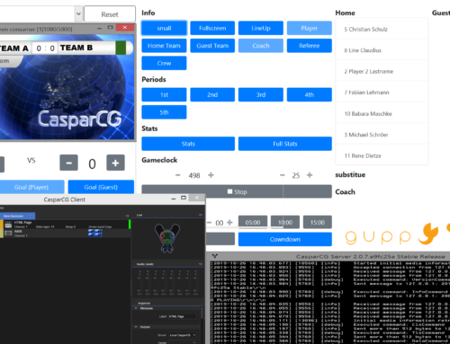 guppyi scoreboard GUI and CasparCG