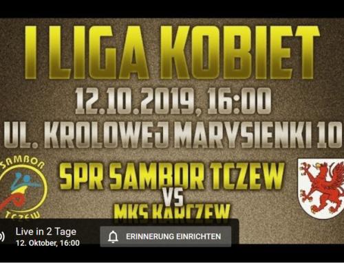 12. Oktober um 16:00 Uhr – Handball livestream – SPR Sambor Tczew – MKS Karczew –