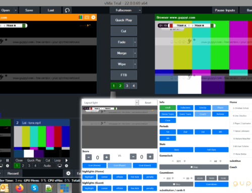 guppyi scoreboard GUI for vMIX Live Video Streaming Software