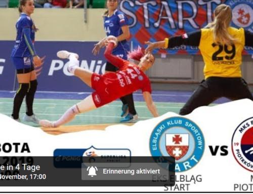 EKS Start Elbląg – MKS Piotrcovia Piotrków Tryb. – Handball livestream – 09.11.2019 – 5 p.m.