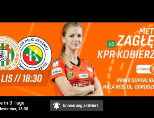 Metraco Zagłębie – KPR Gminy Kobierzyce – 08.11.2019 6.30 p.m. – Handball livestream